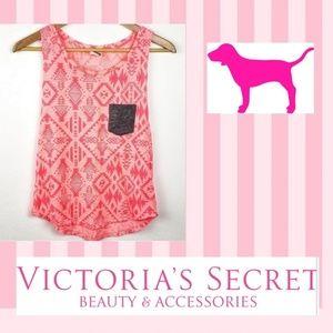 PINK Victoria's Secret pink and gray pocket tank